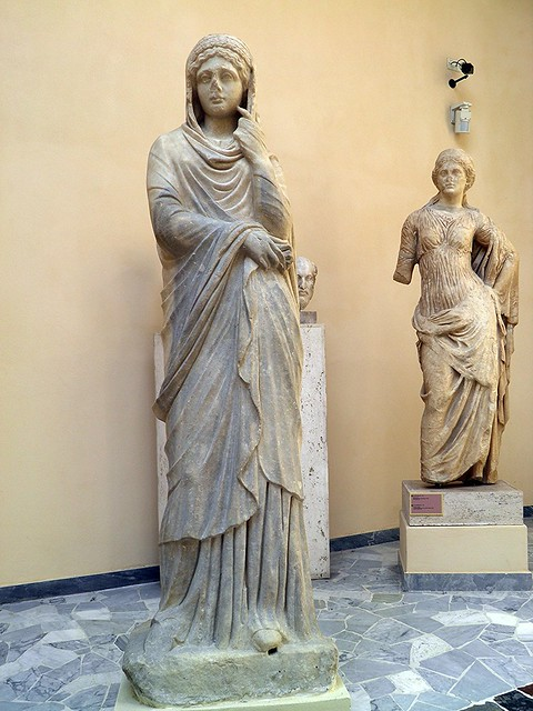 Fausta (?), from the seat of the college of the Augustales, 4th century AD, Ostia Antica, Italy