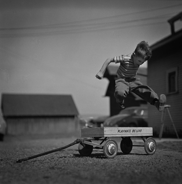 1949 -- Mike Jumping over Wagon