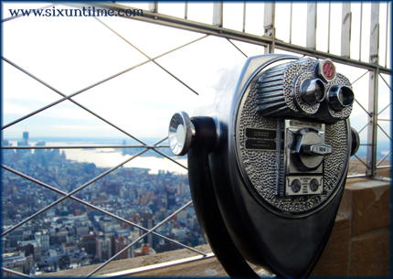 Viewfinder at the top of the Empire State Building