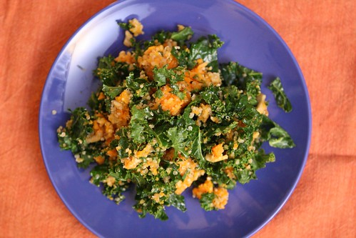 Kale and Sweet Potato Salad with Quinoa and Toasted Cashews