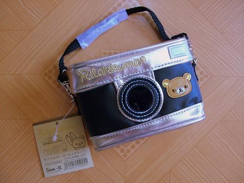 rilakkuma black camera pouch2