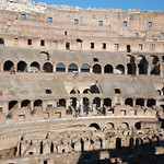 Interior View Looking North Toward The Emperors Box The Colosseum In Rome Italy