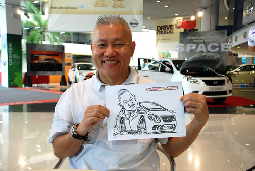 Caricature live sketching for Tan Chong Nissan Motor Almera Soft Launch - Day 3 - 19