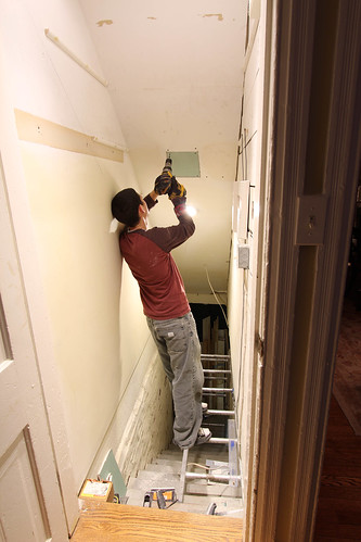 Basement Stairwell Turned Coat Closet Transforming A
