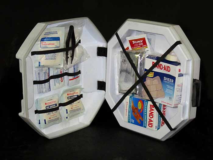 HALO First Aid Kit innards