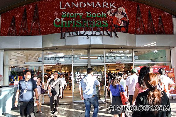 Entering Landmark shopping mall