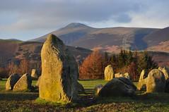 Stone circle grouped under Skiddaw