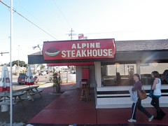 Alpine Steak House Sign