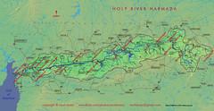map of holy river narmada