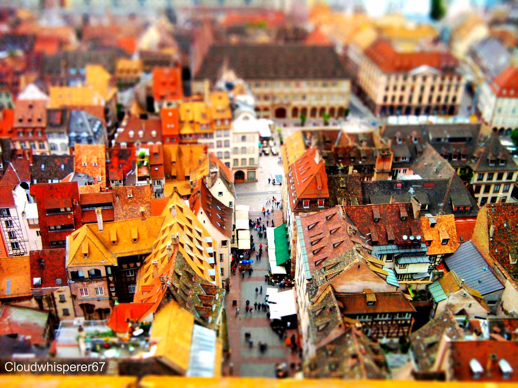 Tilt-shift From Strasbourg Cathedral's Roof --- Bokeh Miniature Toy-like Effect