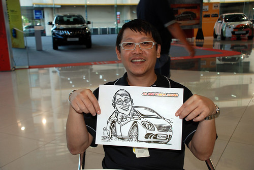 Caricature live sketching for Tan Chong Nissan Motor Almera Soft Launch - Day 4 - 24