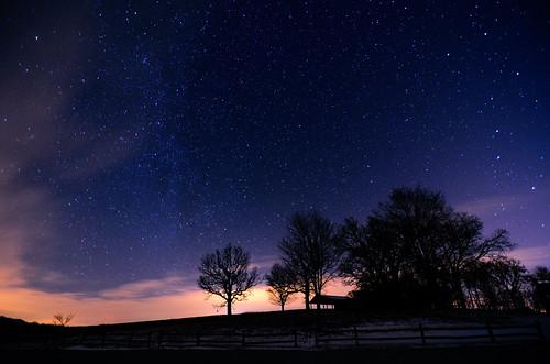 longexposure sky silhouette night stars landscape darkness iowa nightsky milkyway purplesky starfield krumm softstars tokina1116mmf28