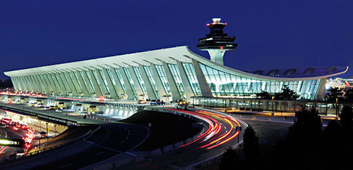 Dulles Airport postcard, front