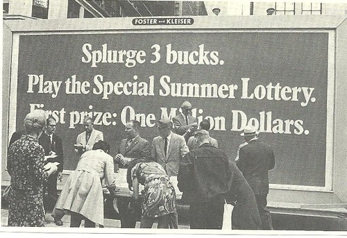 NY Lottery Billboard, NYC, 1970