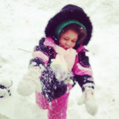 snowball fight.