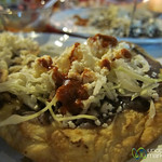 Tostada with Beans, Cheese - Oaxaca, Mexico