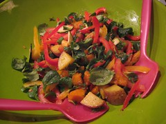 Yummy roasted vegetable salad from Karma-free