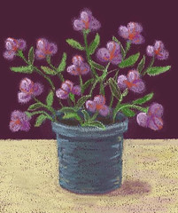Pink Flowers (Digital Pastel Day 3) by randubnick