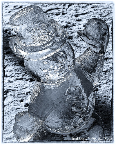 12 Iced Frosty - Ligonier Ice Festival by Kern Little - digital lenswork photography