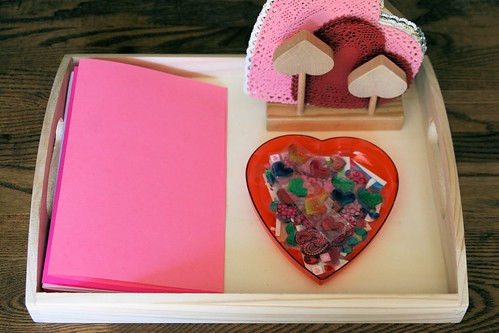 Montessori-Inspired Love Sticker Card Tray