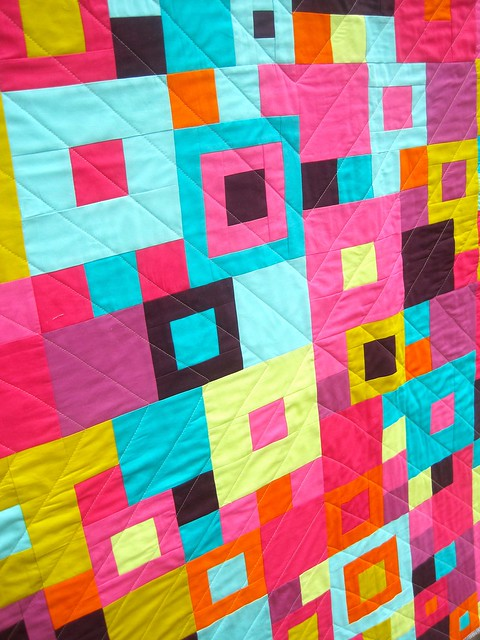 Close up of PSC quilting