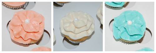 Shabby Chic Baby Shower Ruffle Mini Cupcakes