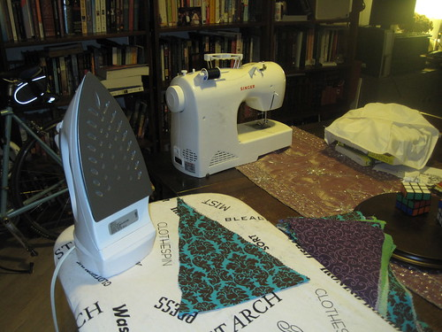 After cutting everything, line up the edges and iron the wrinkles out.