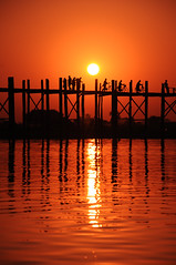 ubein bridge, mandalay, burma, myanmar by travelling-footprint