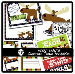 Moose Mania Classroom Theme