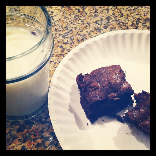 Brownies + Milk #janphotoaday #guiltypleasure #day24