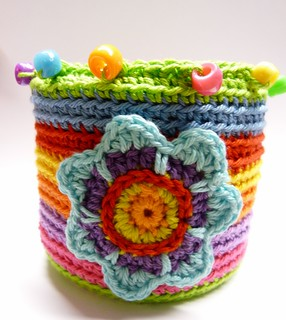 Tin Transformed Through Crochet