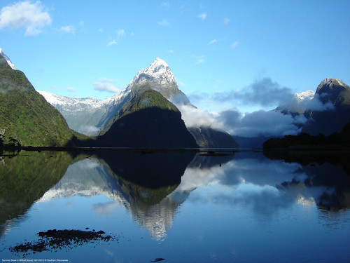 Summer Snow in Milford Sound