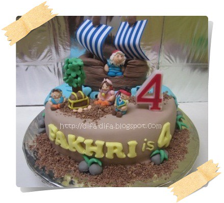 jack and the neverland pirates by DiFa Cakes