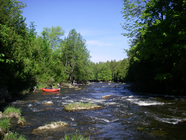 The rapids on the Saugeen River