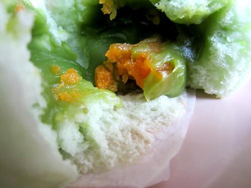 Kaya bun inside