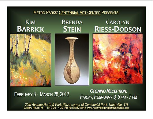 2012 Centennial Art Center Exhibit Invitation