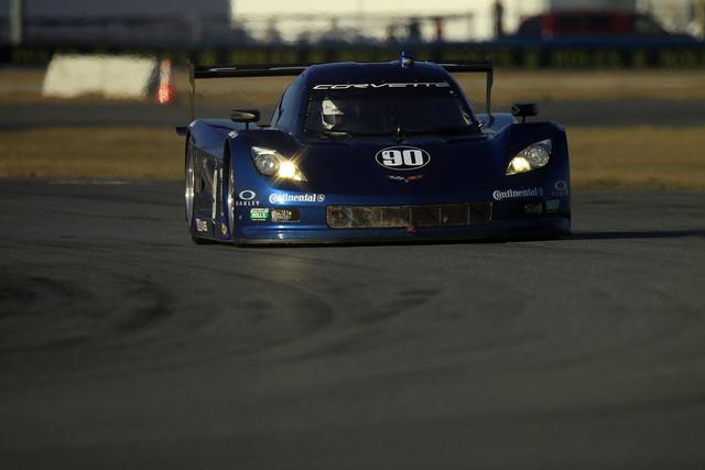 The sultry blue Corvette