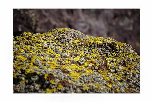 rock plateau boulder lichen mesa encrusted labajada cajadelrio
