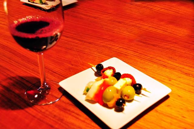 Wine and Tapas at Mercado de San Miguel, Madrid, Spain