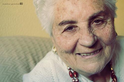 una chavala de 89 años