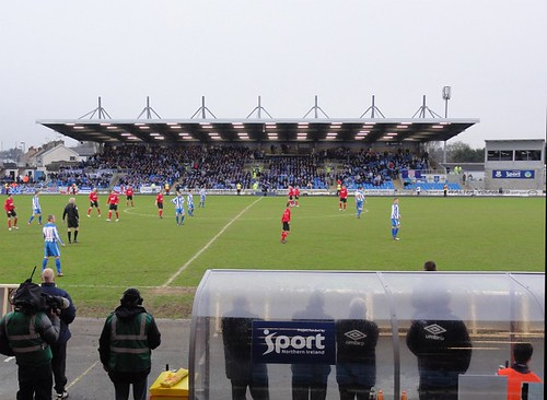 Crusaders take on Coleraine at Ballymena