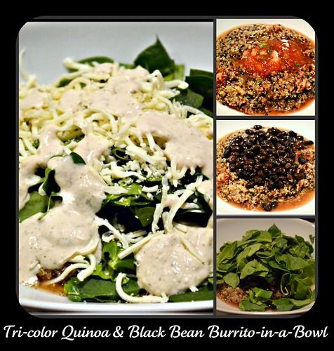 Tri-color Quinoa Burrito in a Bowl