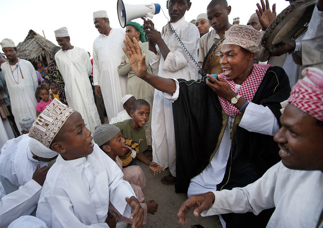 Singing With Young Boys At Maulidi Festival Celebration, Lamu, Kenya