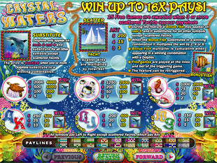 Crystal Waters Slots Payout