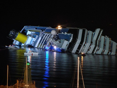 Striking pictures from the Costa Concordia accident, Giglio, Italy 2012, February