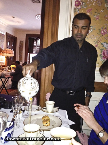 Lady Mendls Tea Salon NYC pouring tea