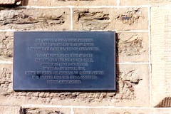 Town clock plaque