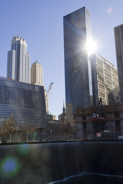 365.170 WTC, South Pool; Reflection of a Sun reflection