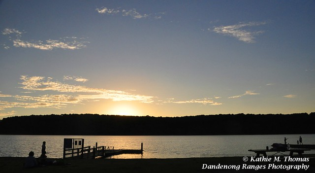 Sunset at Lysterfield Lake 3Feb12