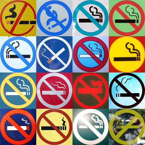 No smoking in technicolour